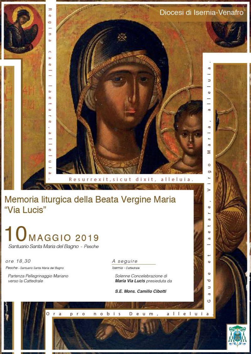 Santa Maria Del Bagno Pesche.Memoria Liturgica Della Beata Vergine Maria Via Lucis Isernia